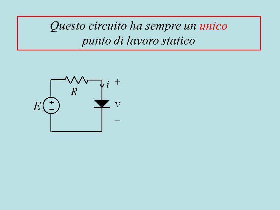 Questo circuito ha sempre un unico punto di lavoro statico