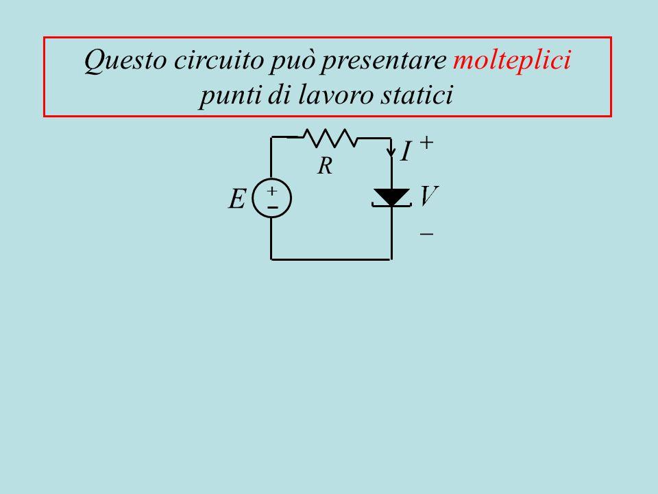 Questo circuito può presentare molteplici punti di lavoro statici