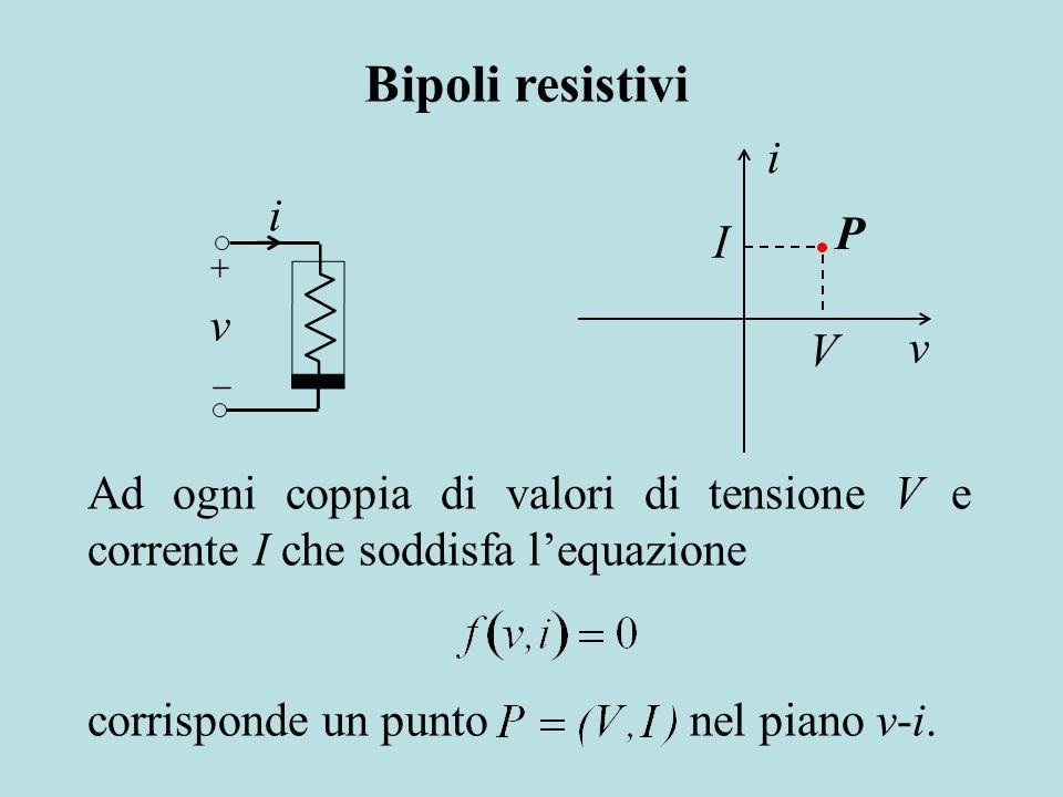 Bipoli resistivi i i P I v v V