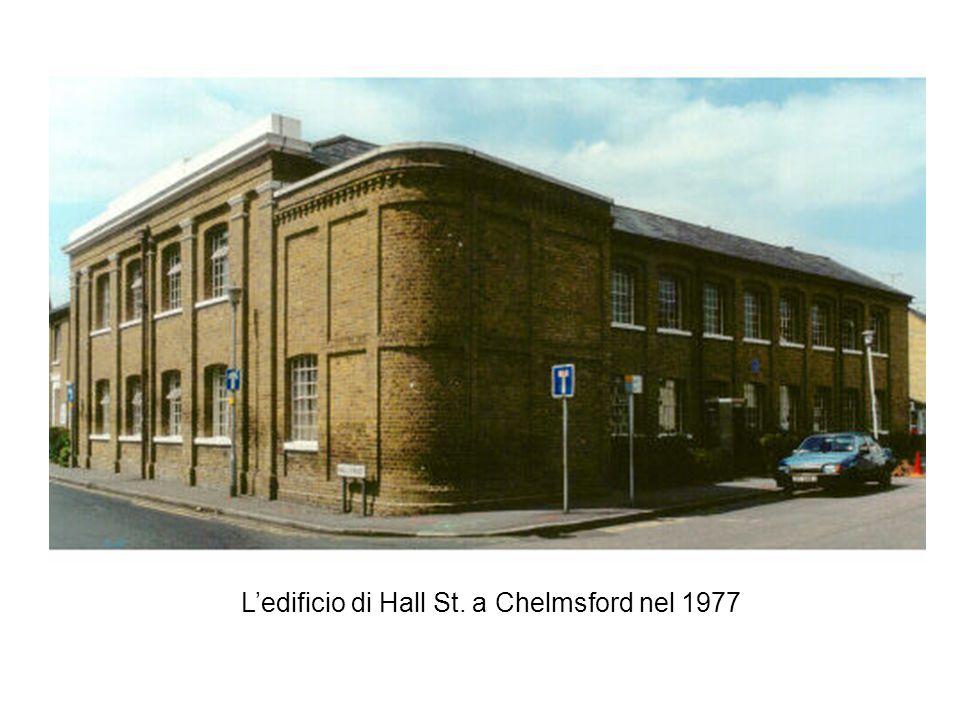 L'edificio di Hall St. a Chelmsford nel 1977
