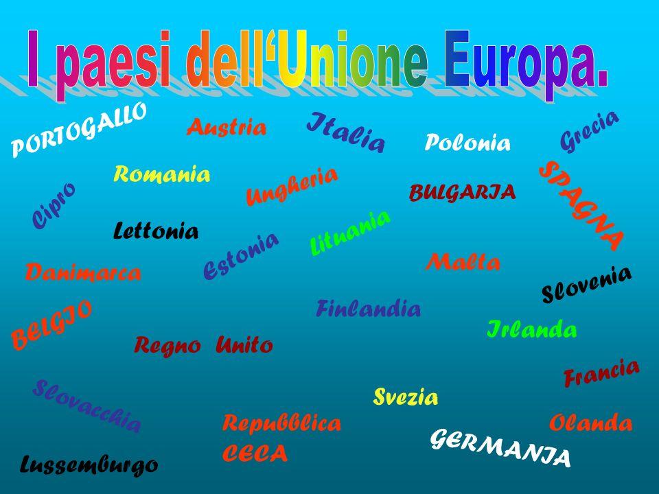I paesi dell'Unione Europa.