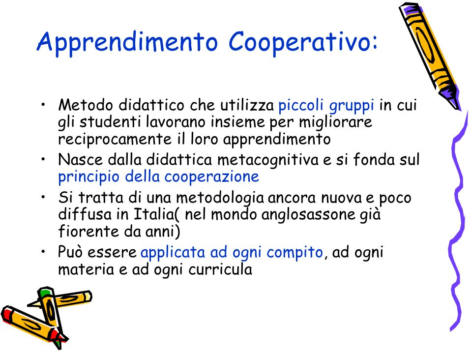 Apprendimento Cooperativo: