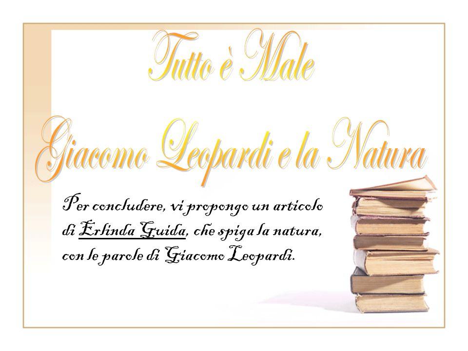 Giacomo Leopardi e la Natura