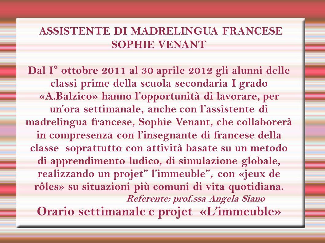 ASSISTENTE DI MADRELINGUA FRANCESE