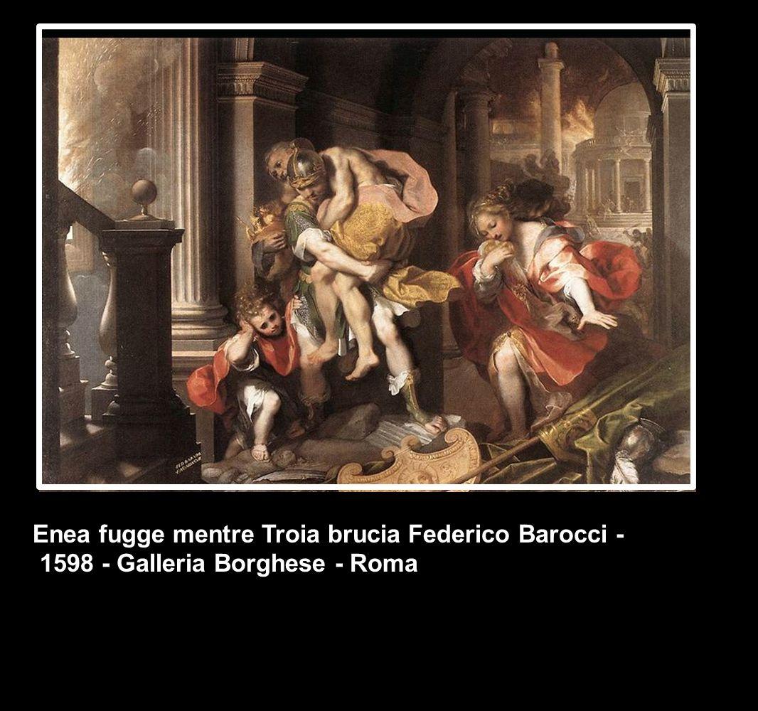 Enea fugge mentre Troia brucia Federico Barocci -