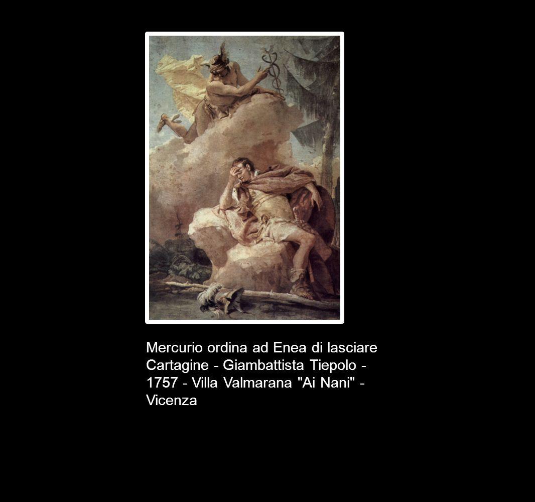 Mercurio ordina ad Enea di lasciare Cartagine - Giambattista Tiepolo - 1757 - Villa Valmarana Ai Nani - Vicenza