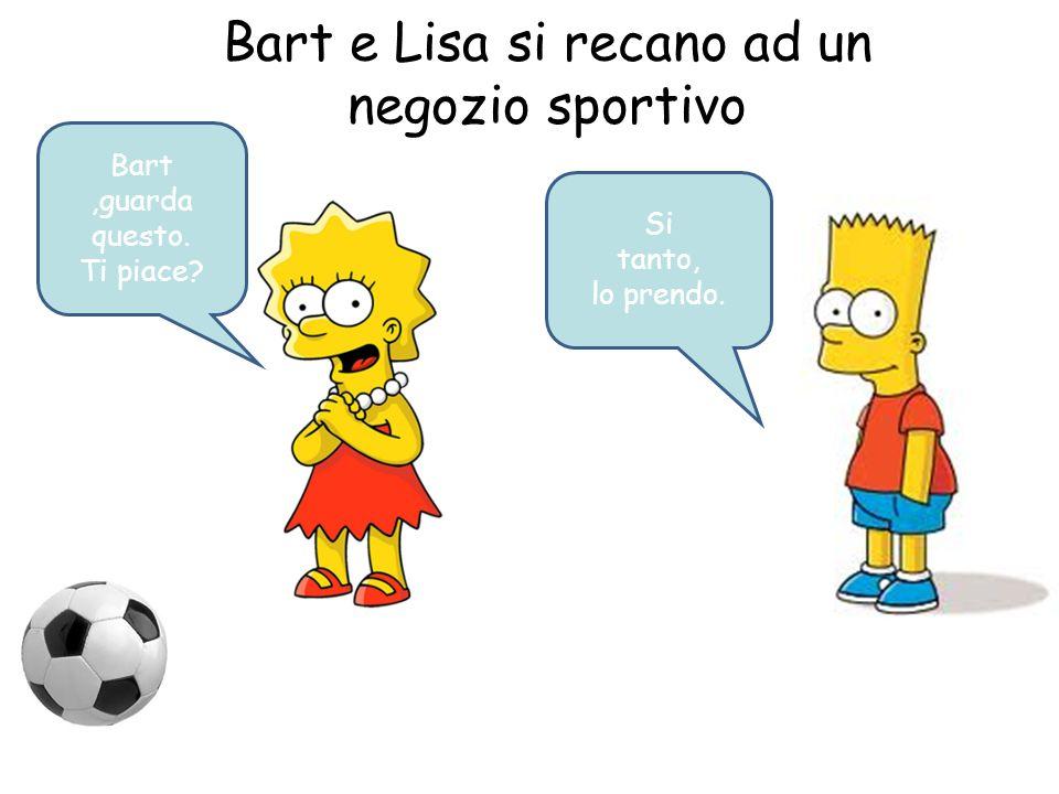 Bart e Lisa si recano ad un negozio sportivo