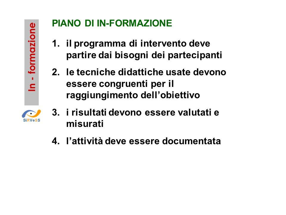 PIANO DI IN-FORMAZIONE