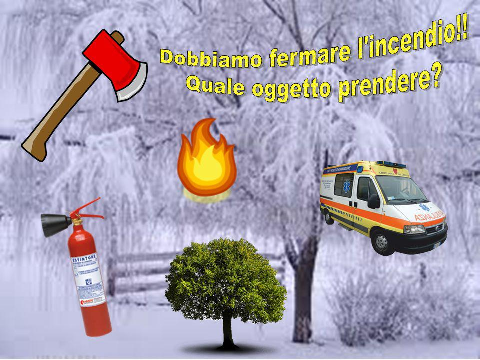 Dobbiamo fermare l incendio!! Quale oggetto prendere