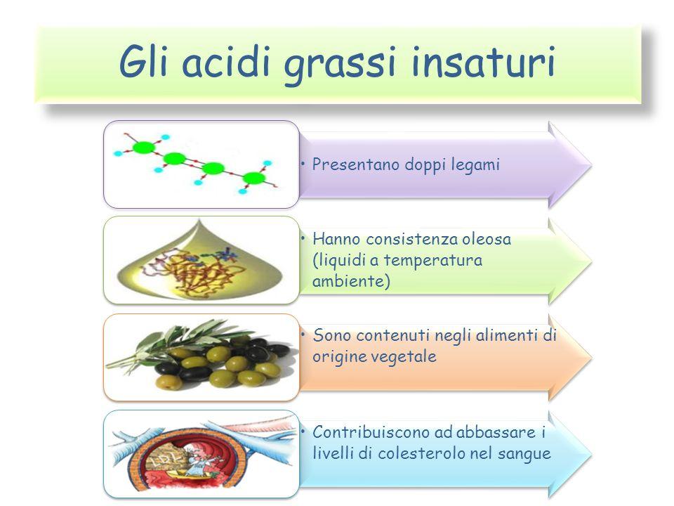 Gli acidi grassi insaturi