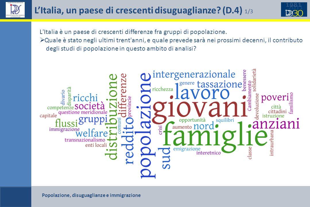 L'Italia, un paese di crescenti disuguaglianze (D.4) 1/3