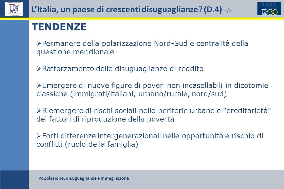 L'Italia, un paese di crescenti disuguaglianze (D.4) 2/3