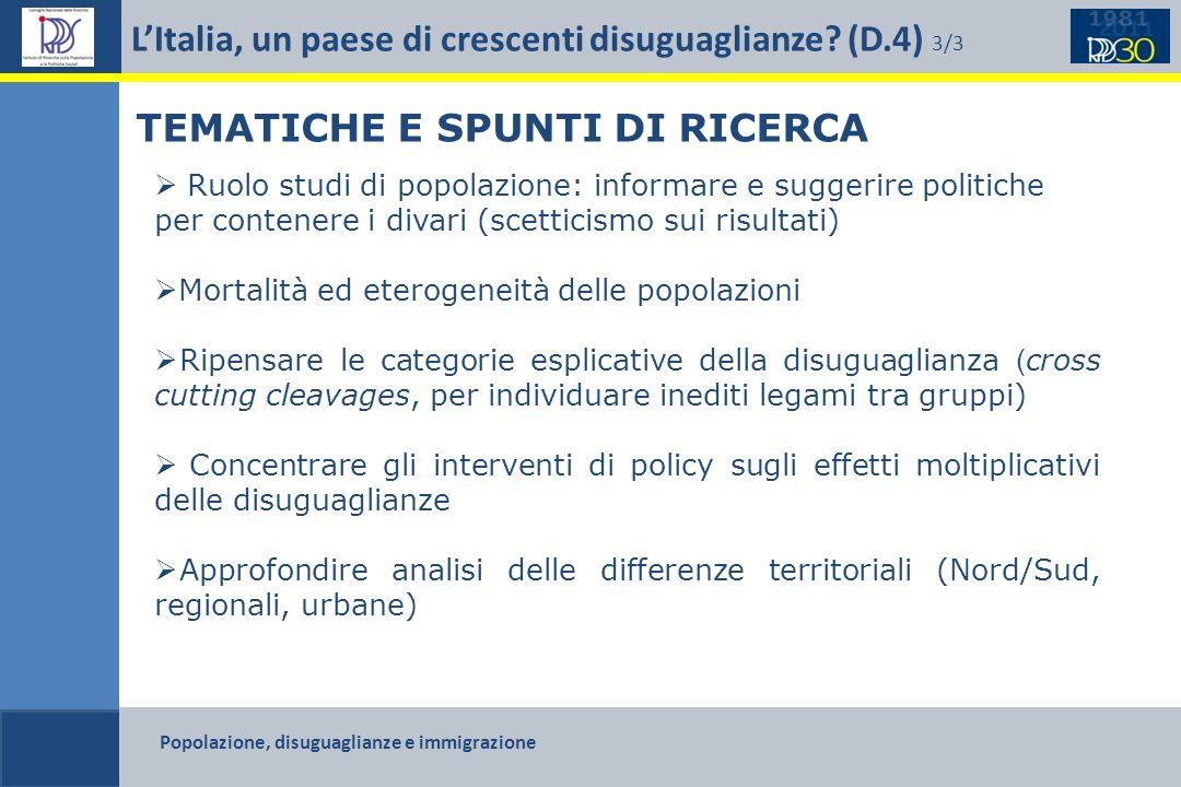 L'Italia, un paese di crescenti disuguaglianze (D.4) 3/3