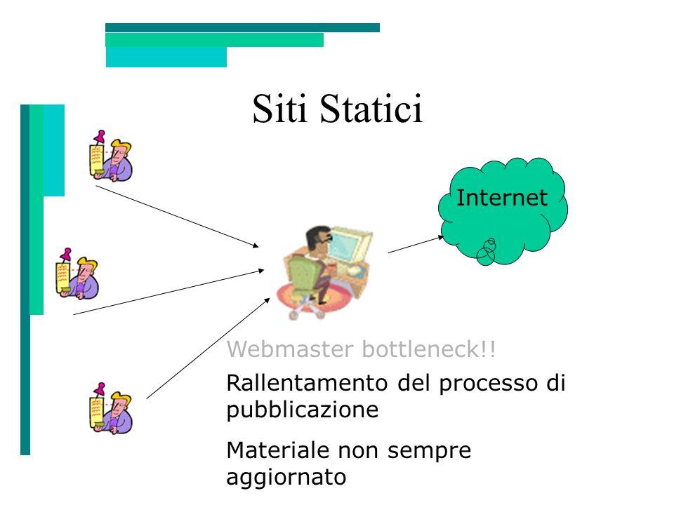 Siti Statici Internet Webmaster bottleneck!!