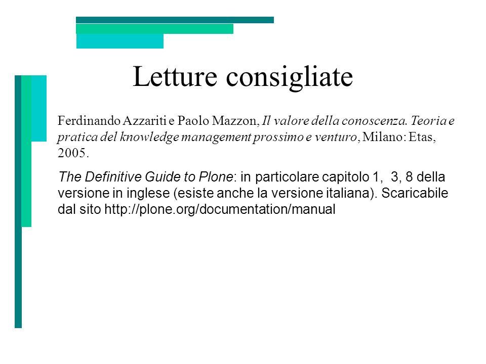 Letture consigliate