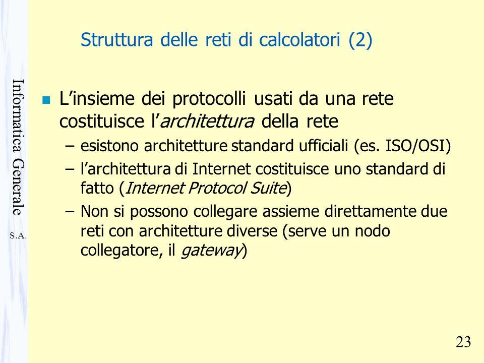 Struttura delle reti di calcolatori (2)