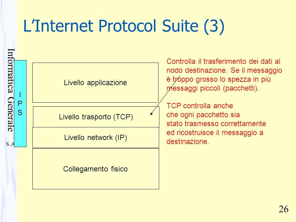 L'Internet Protocol Suite (3)