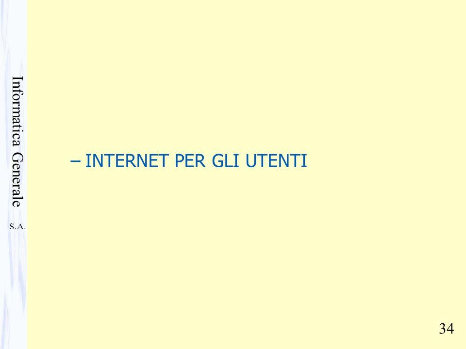 INTERNET PER GLI UTENTI