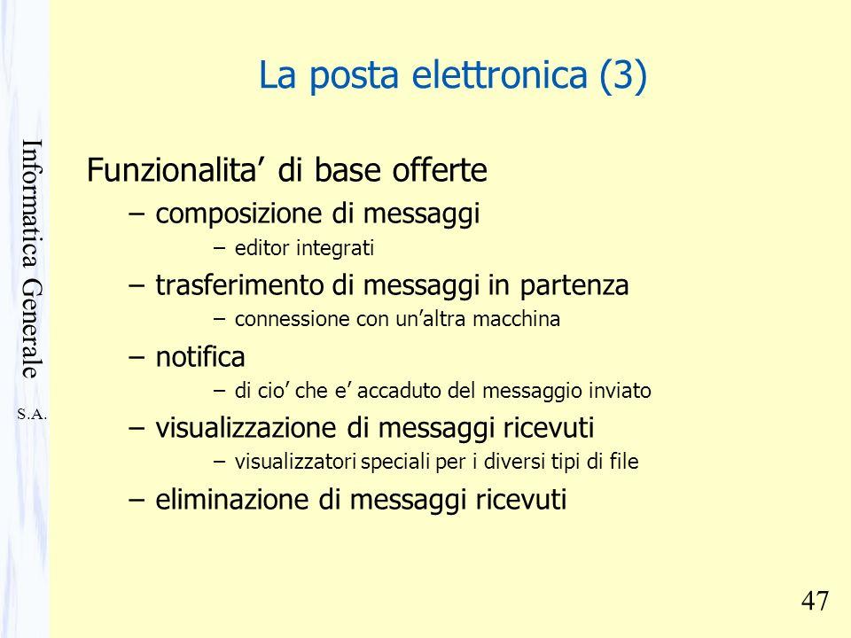 La posta elettronica (3)