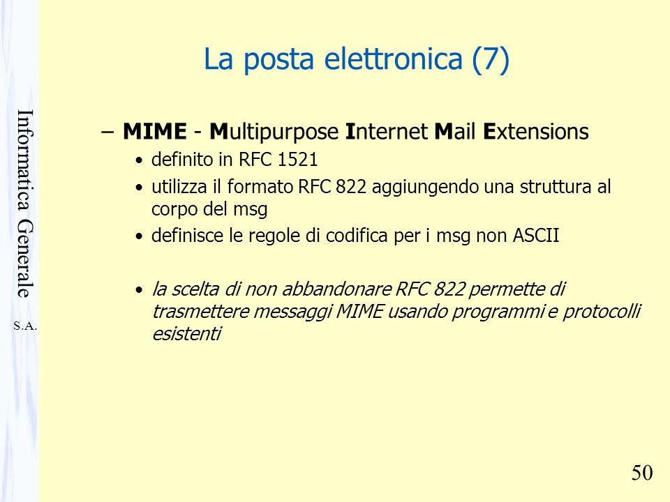 La posta elettronica (7)