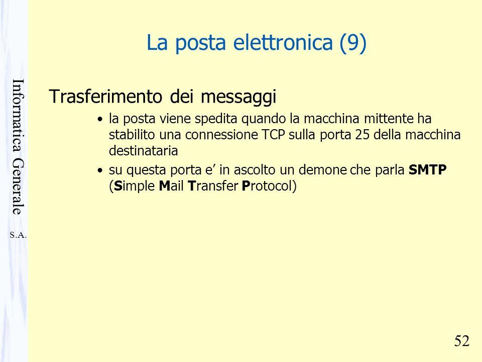 La posta elettronica (9)