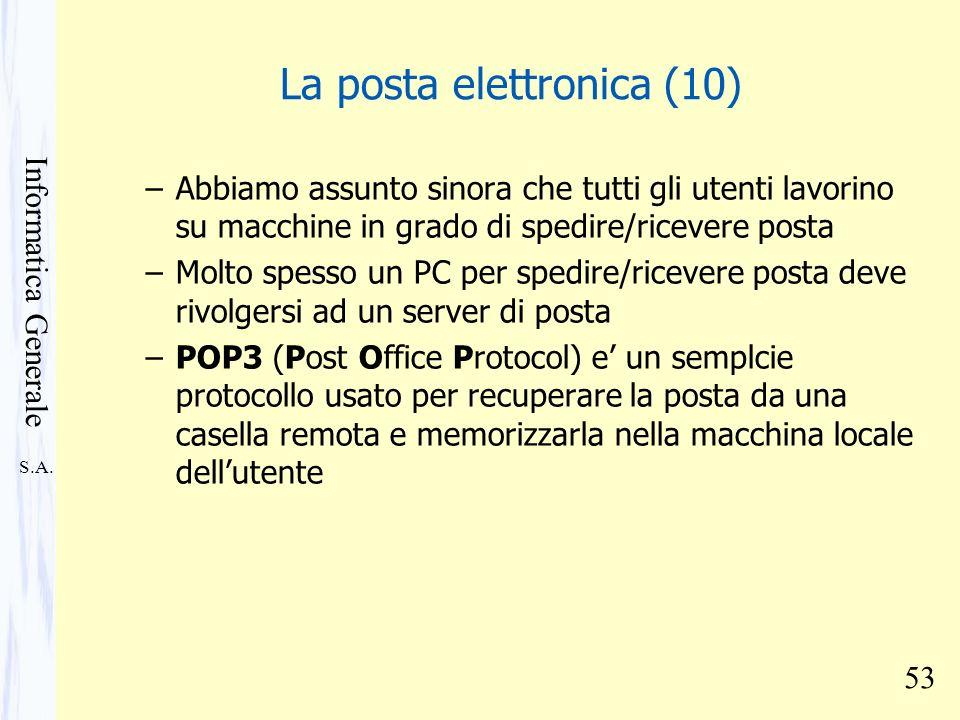 La posta elettronica (10)