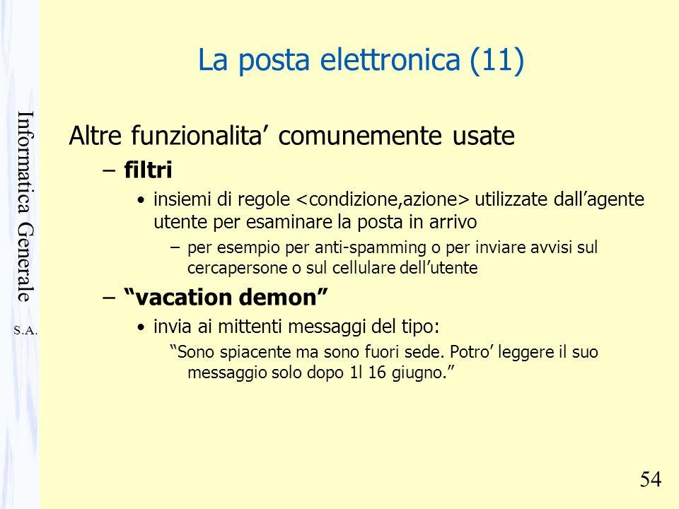 La posta elettronica (11)