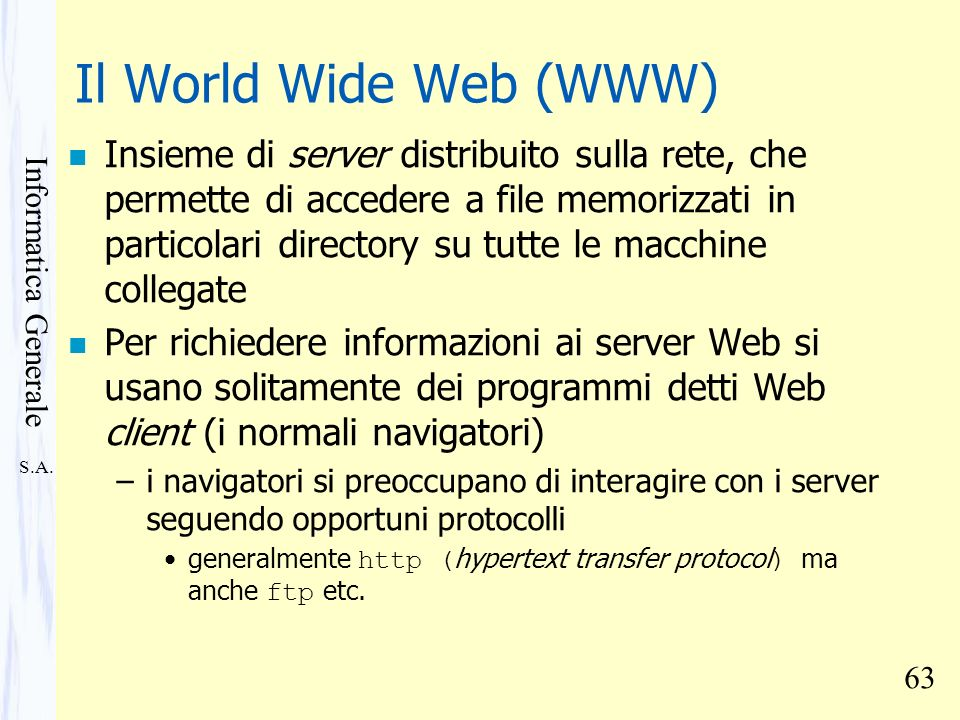 Il World Wide Web (WWW)