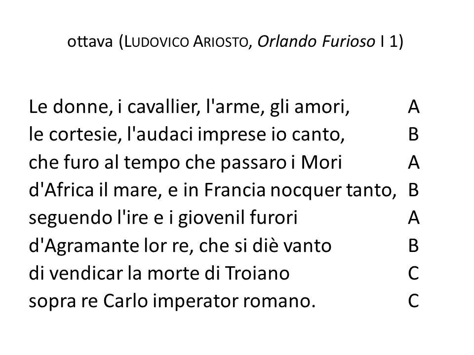 ottava (Ludovico Ariosto, Orlando Furioso I 1)