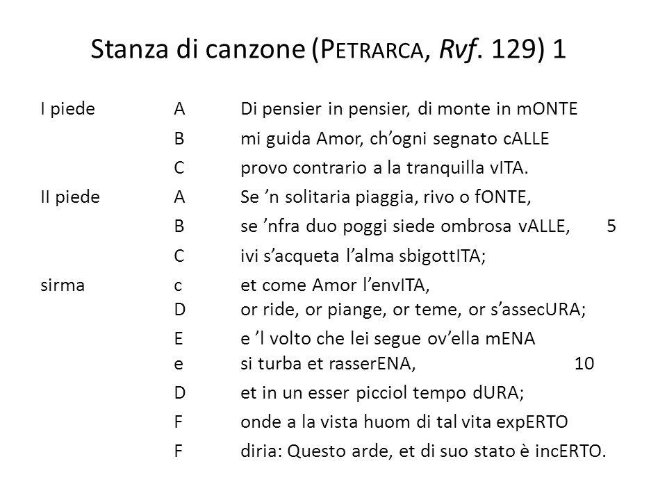 Stanza di canzone (Petrarca, Rvf. 129) 1