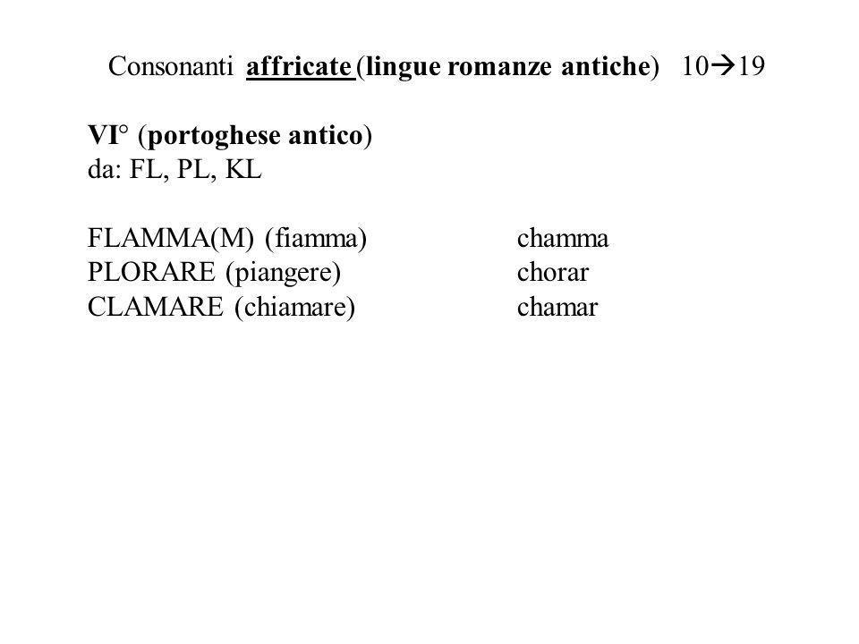 Consonanti affricate (lingue romanze antiche) 1019