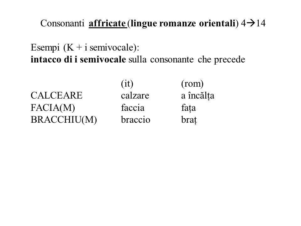 Consonanti affricate (lingue romanze orientali) 414