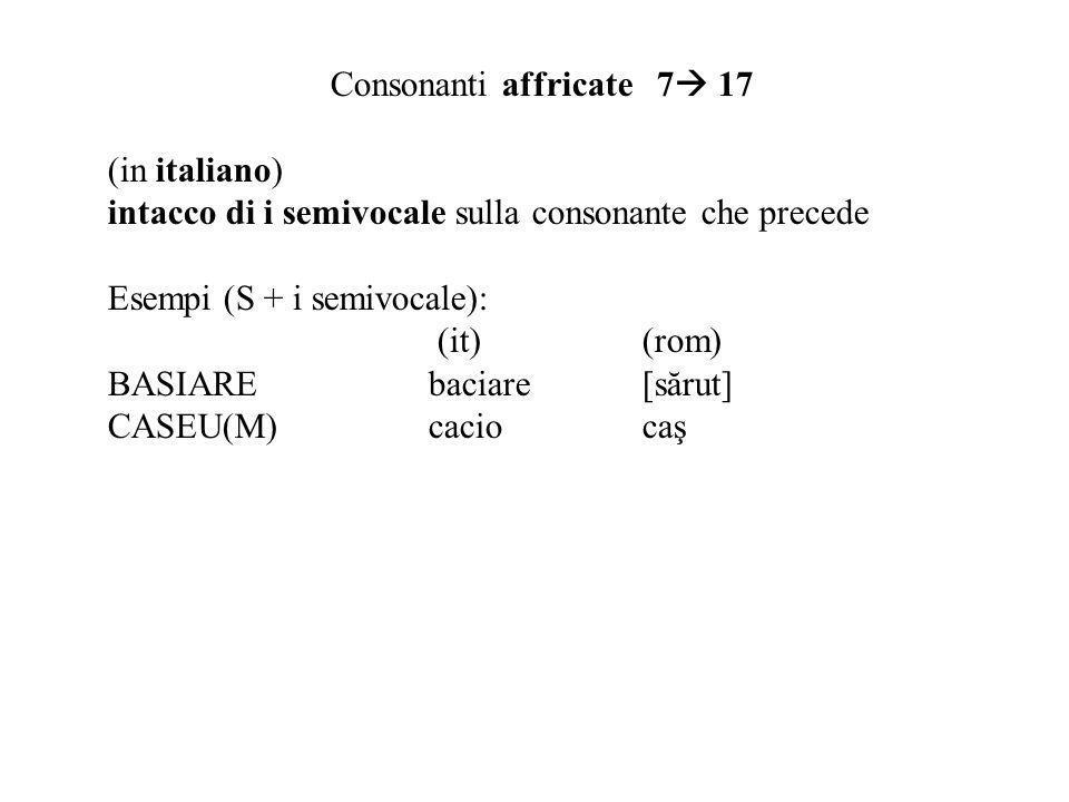 Consonanti affricate 7 17