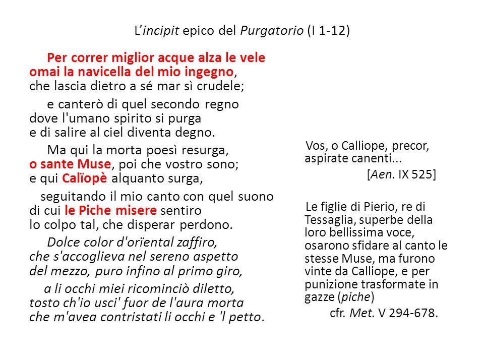 L'incipit epico del Purgatorio (I 1-12)