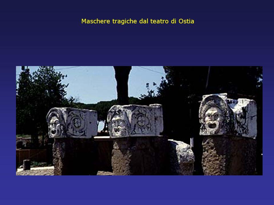 Maschere tragiche dal teatro di Ostia