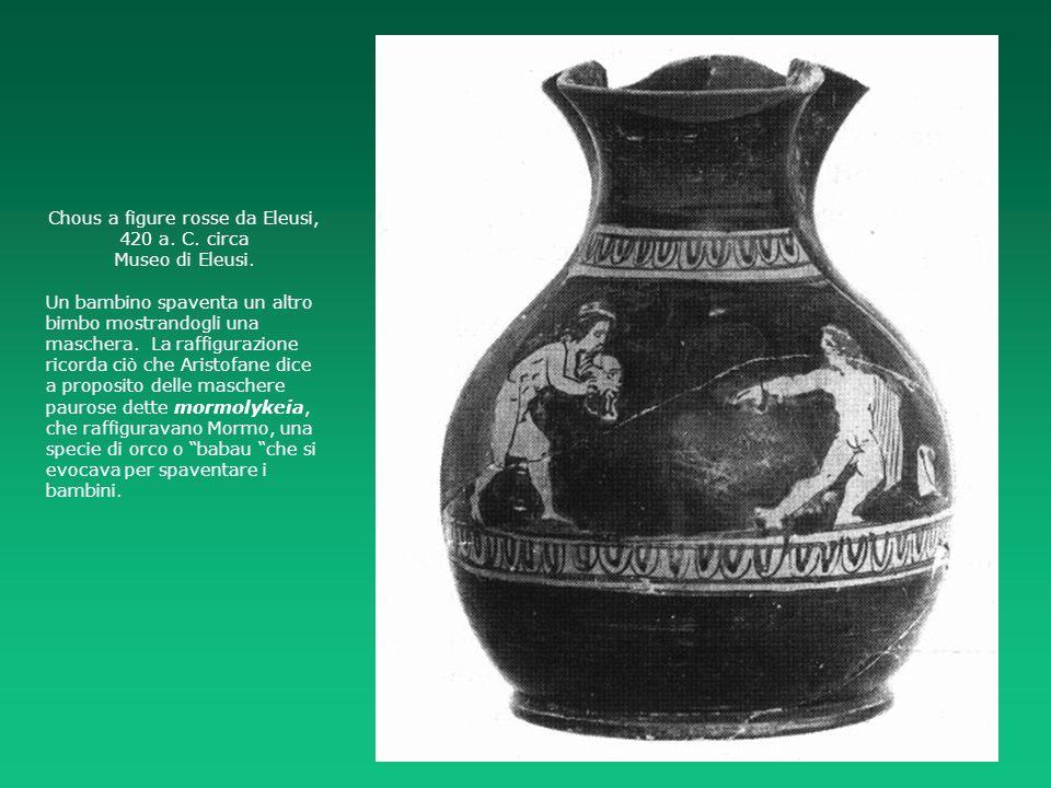 Chous a figure rosse da Eleusi, 420 a. C. circa