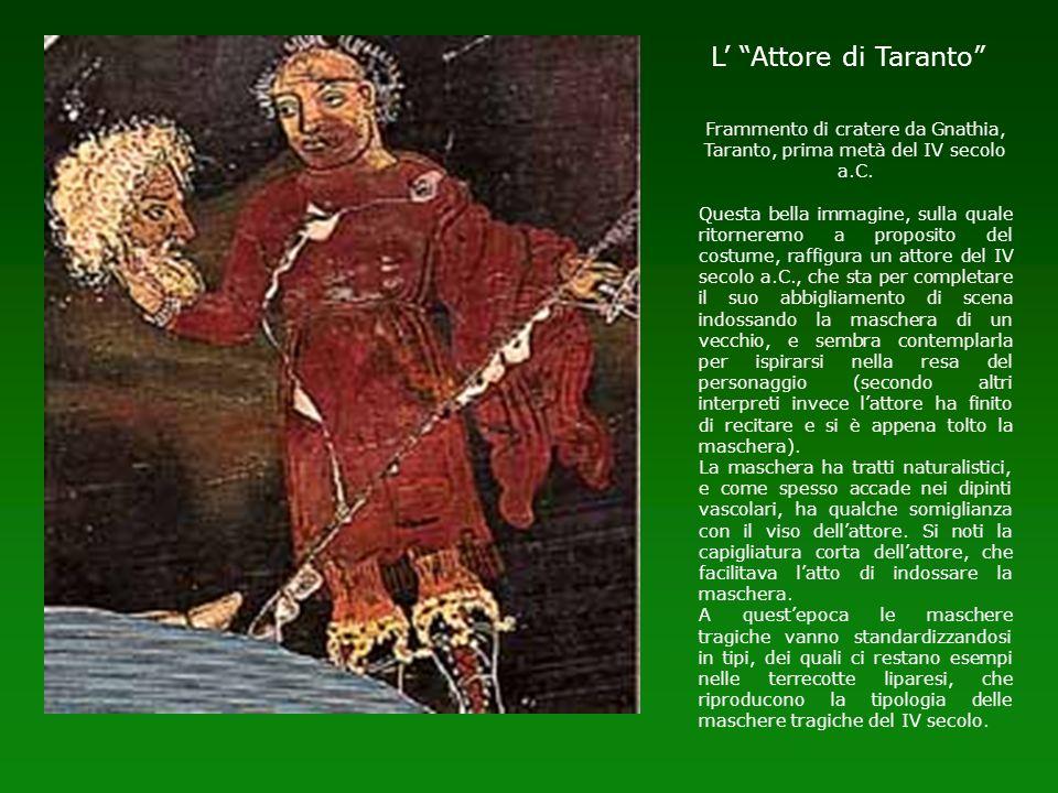 L' Attore di Taranto Frammento di cratere da Gnathia, Taranto, prima metà del IV secolo a.C.