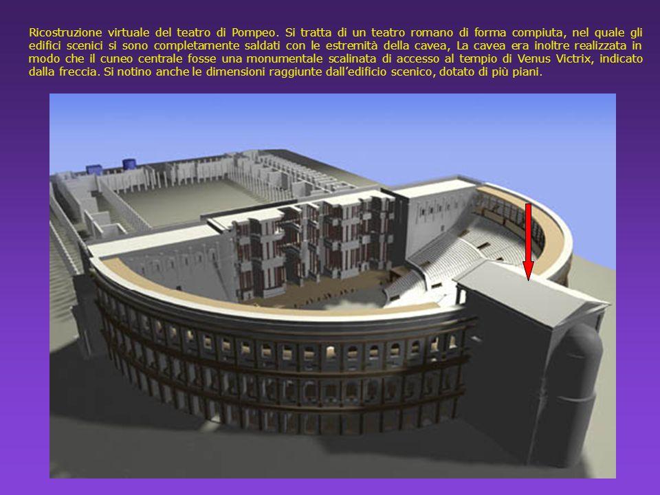 Ricostruzione virtuale del teatro di Pompeo