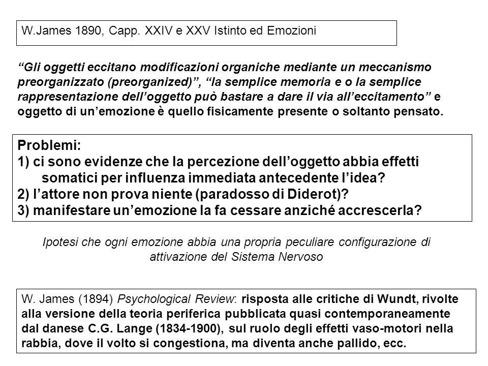 2) l'attore non prova niente (paradosso di Diderot)