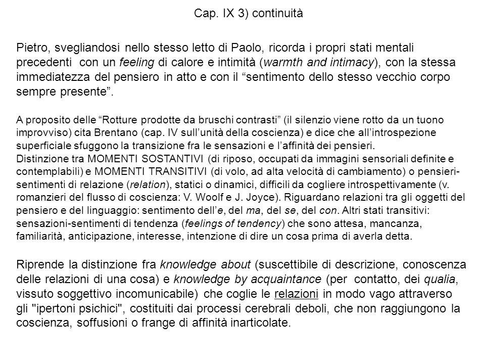 Cap. IX 3) continuità