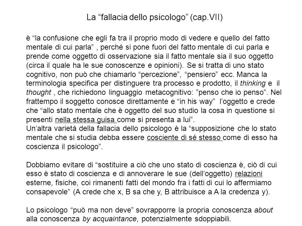 La fallacia dello psicologo (cap.VII)