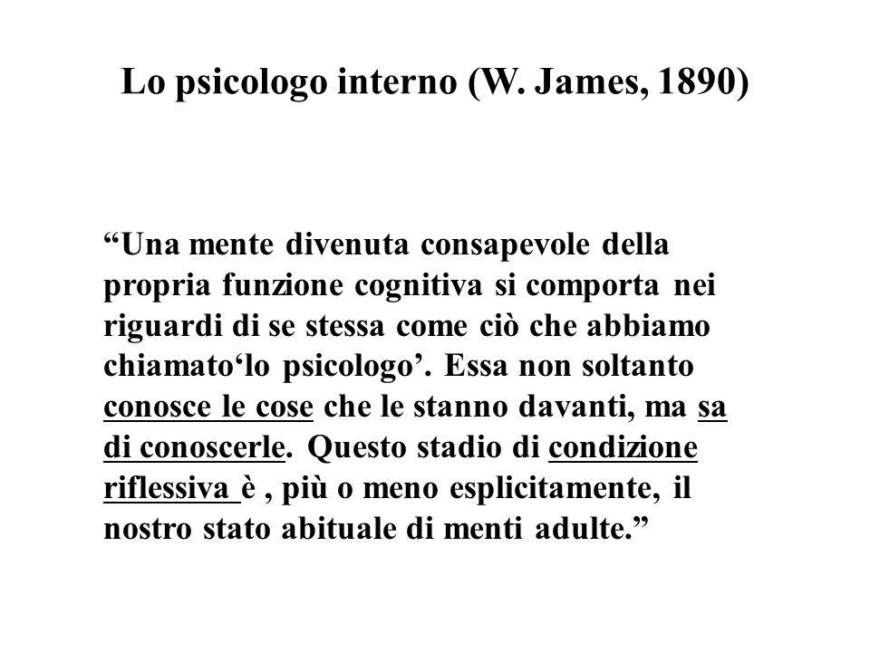 Lo psicologo interno (W. James, 1890)