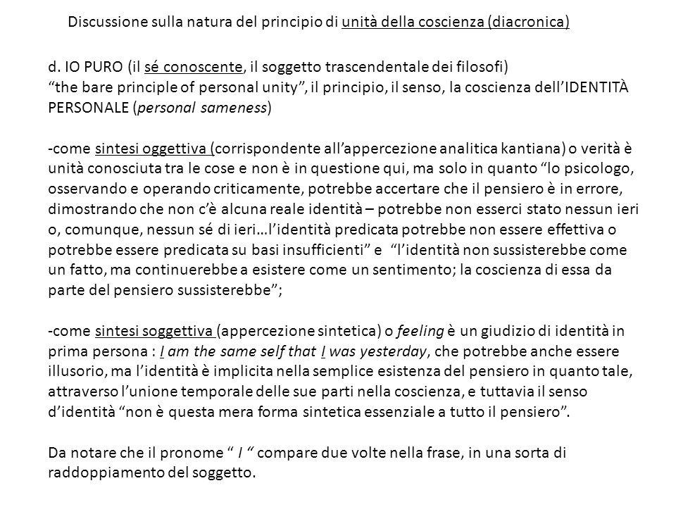 Discussione sulla natura del principio di unità della coscienza (diacronica)