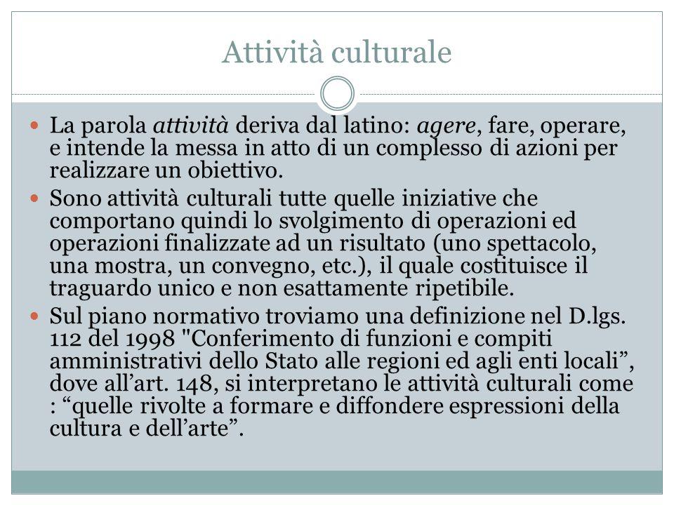 Attività culturale