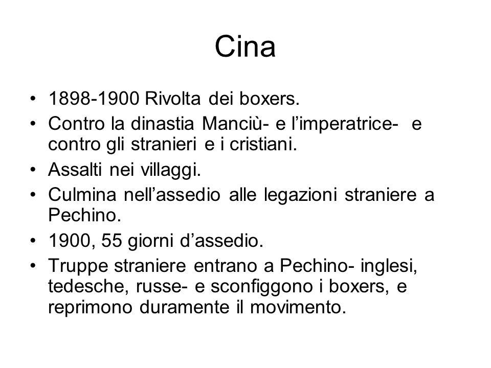 Cina 1898-1900 Rivolta dei boxers.