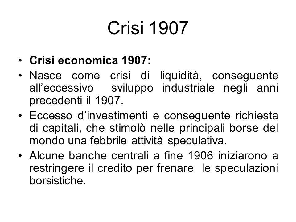 Crisi 1907 Crisi economica 1907: