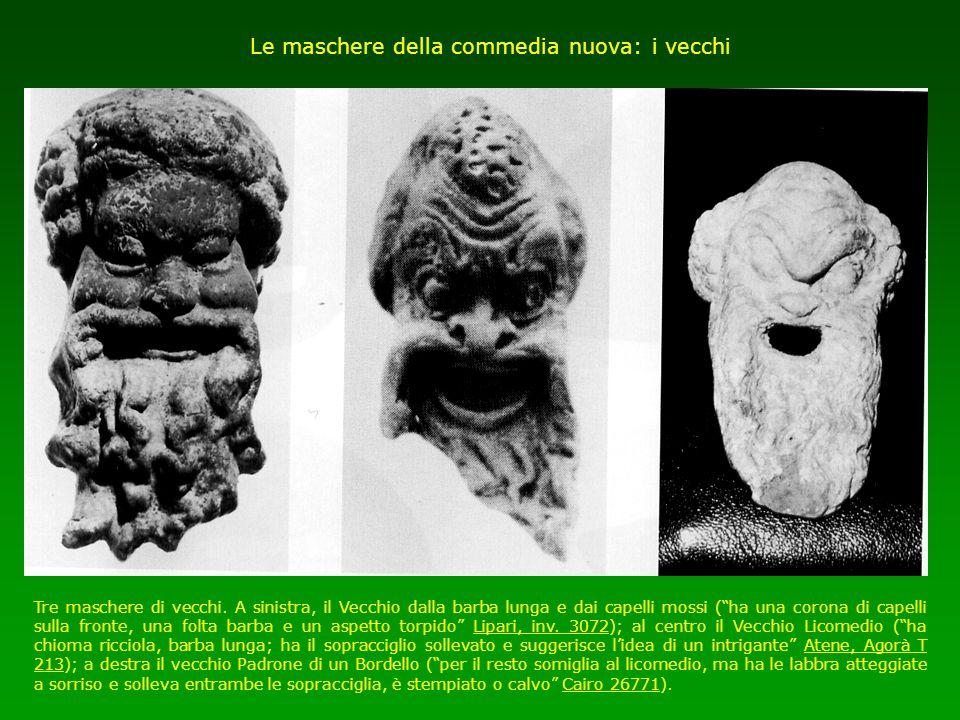 Le maschere della commedia nuova: i vecchi