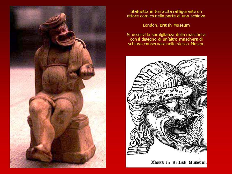 Statuetta in terractta raffigurante un attore comico nella parte di uno schiavo