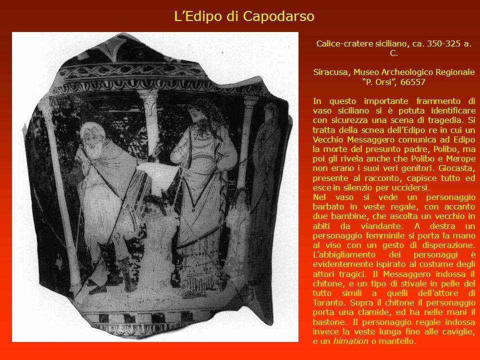 L'Edipo di Capodarso Calice-cratere siciliano, ca. 350-325 a. C.