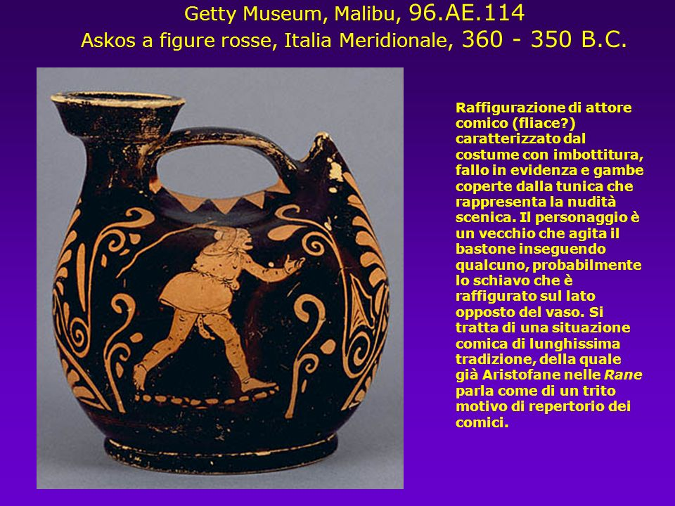 Askos a figure rosse, Italia Meridionale, 360 - 350 B.C.